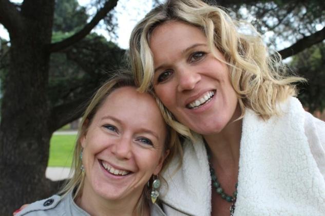 Christine et Lilou lors de leur rencontre sur Los Angeles