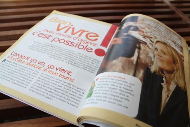 MIEUX POUR MOI MAGAZINE Bien Vivre avec moins d'argent - Interview de 6 pages Janvier-Mars 2013