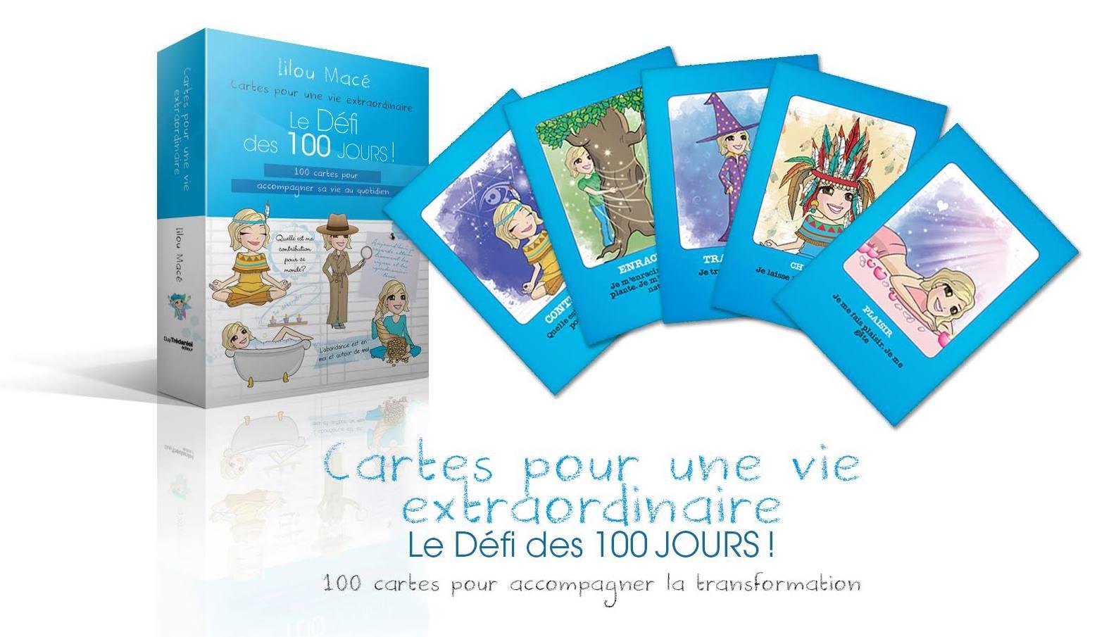 100 cartes pour accompagner sa vie au quotidien - Le Défi des 100 jours