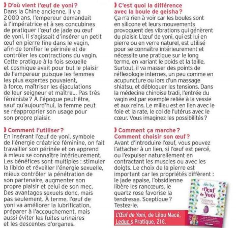"""PUBLIC révèle """"Les secrets de l'œuf de yoni"""" !"""