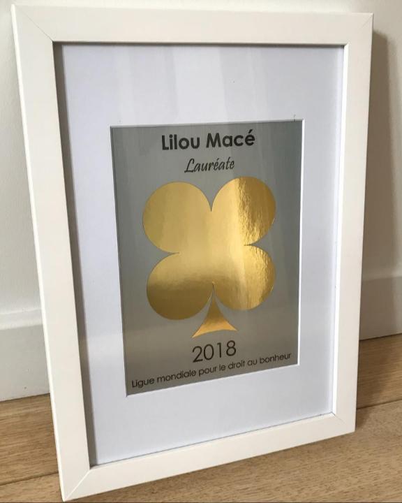 Le Trèfle d'Or du bonheur décerné à Lilou Macé !