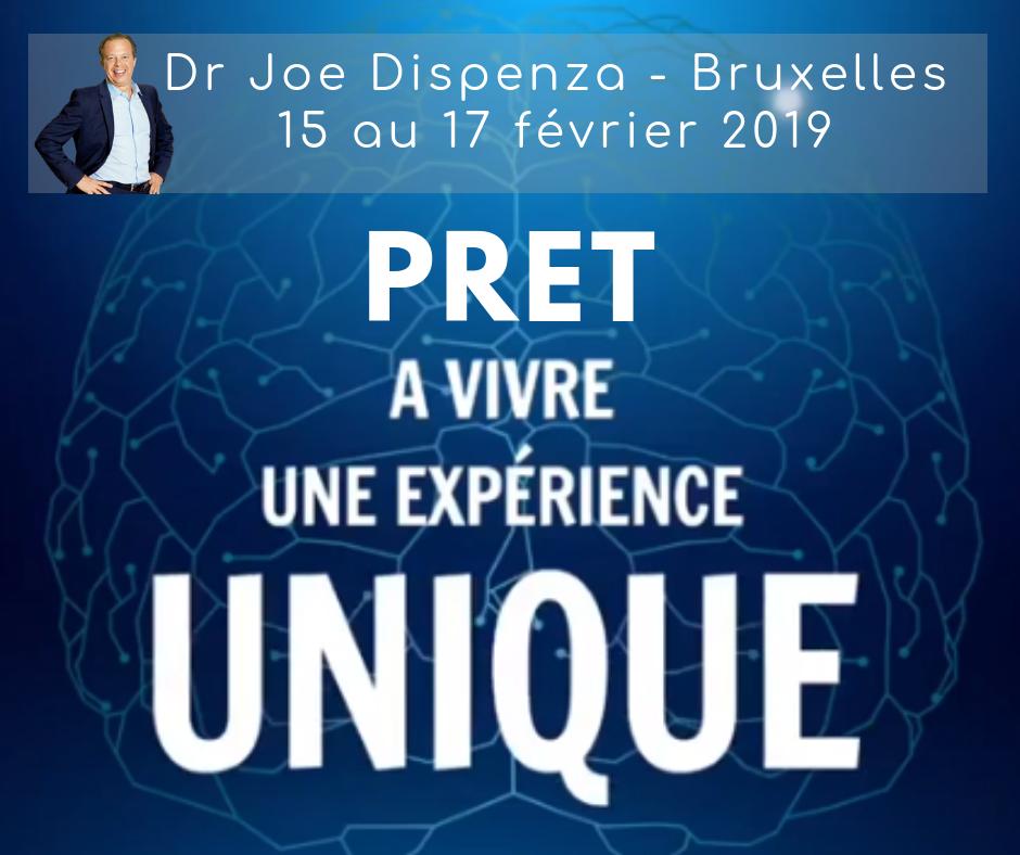15-17 FEVRIER 2019 ! DR JOE DISPENZA - ATELIER PROGRESSIF A BRUXELLES / PROGRESSIVE WORKSHOP IN BRUSSELS