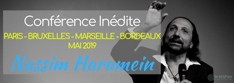 MAI 2019 - NASSIM HARAMEIN EN TOURNEE ! 4 DATES EN FRANCE ET EN BELGIQUE !