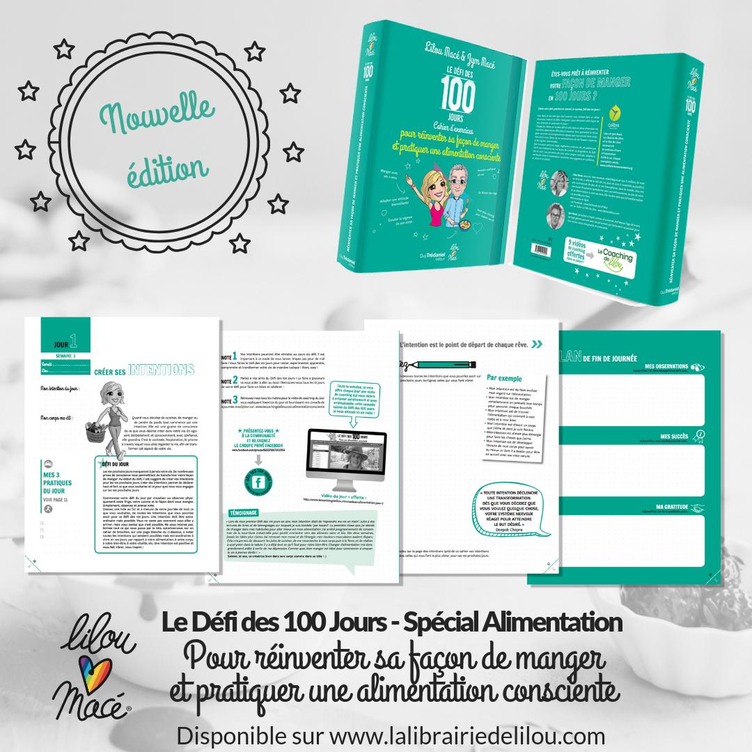 Nouveau look pour le Cahier du DÉFI des 100 jours pour une Alimentation Consciente !