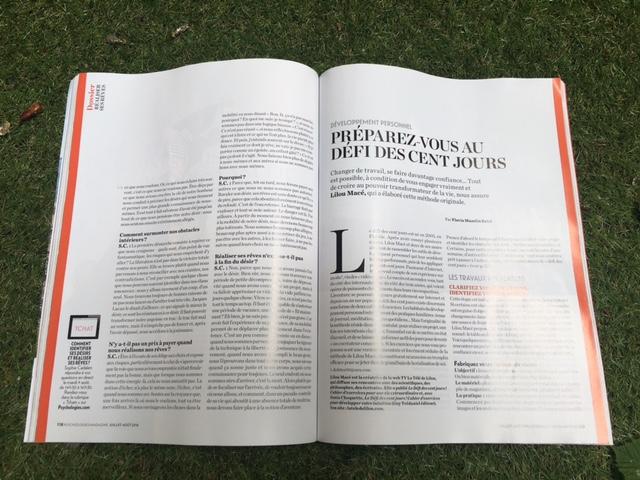 Psychologie Magazine n°364 - Parution juillet-aout 2016 - Le défi des 100 jours pour passer à l'action cet été !
